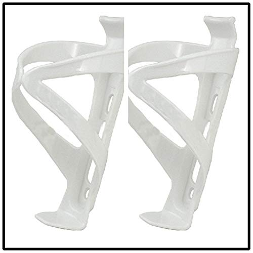 Shop-PEJ Bike Water Bottle Cage, Outdoor Sports Bicycle Water Cup Holder Cycling Mountain Road Bike Water Bottle Holder Cages Rack Mount for Road & Mountain Bikes (Color : White)