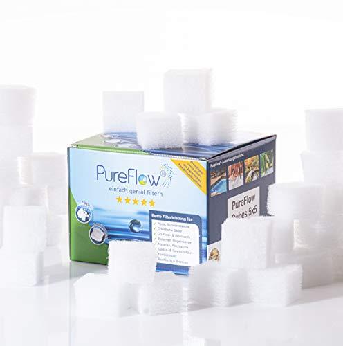 PureFlow Cubes Filterkartuschen: Universeller Ersatz für Intex Kartusche und Bestway Kartusche - Ersatz für bis zu 5 Kartuschenfilter