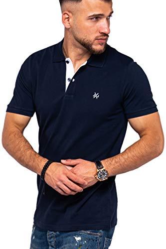 JACK & JONES Herren Poloshirt Infinity Polohemd Kurzarmshirt (XL, Navy Blazer)