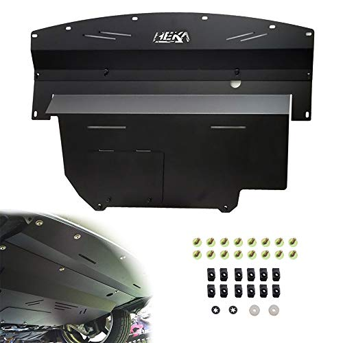 ELITEWILL Black Aluminum Under Tray Skid Plate Engine Splash Shield Guard Fit for 2003-2009 Nissan 350Z & 2003-2006 Infiniti G35 and 03-07 G35 Coupe