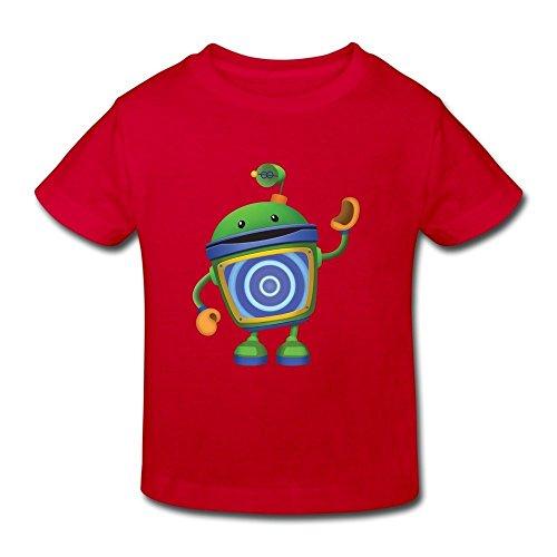 mjensen Toddler's Cool Bot Team Umizoomi T-Shirts Size 4 Toddler Red by