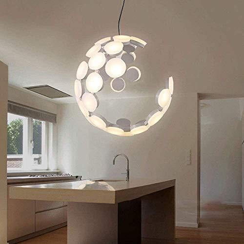 WangchngqingDD Lampara Araña, Esférica colgante de luz, la luz blanca de la lámpara del accesorio del techo del globo, Postmodern creativo nórdica Estilo Lámpara de acrílico, de la personalidad Creati