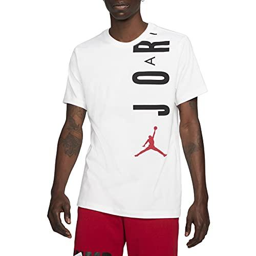 NIKE J Jordan Air Stretch Crew Camiseta, Blanco, Negro y Rojo, XXL...