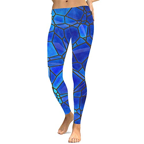 Womens Outdoor Capris Fitness Tights, Women's Sexy Digital Printed Leggings Skinny Yoga Pants Ladies Full Length Sports Training Trousers Workout Gym Active Tights Athletic Walking Running Stretch Leg