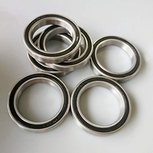 WEJUANR 2pcs 6806 Rodamiento de cerámica híbrido 30x42x7mm ABEC-7 Soportes de Fondo de Bicicleta Repuestos 6806RS Rodamientos de Bolas (Paquete de 2)