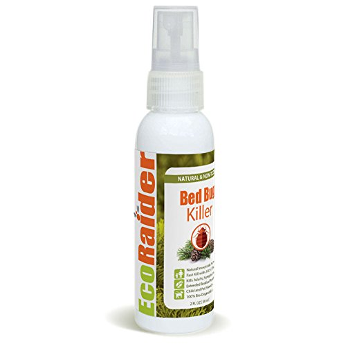 Bed Bug Killer by EcoRaider Travel/Personal Size, 100% Fast Kill and Extended Protection, Plant...