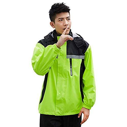 BRTXFD La Mode Poncho Pluie Impermeable Tops + Pantalons, en Tissu Polyester imperméable de Haute qualité,Double Couche Respirante,Poncho ImperméAble de Homme Adulte,C,L
