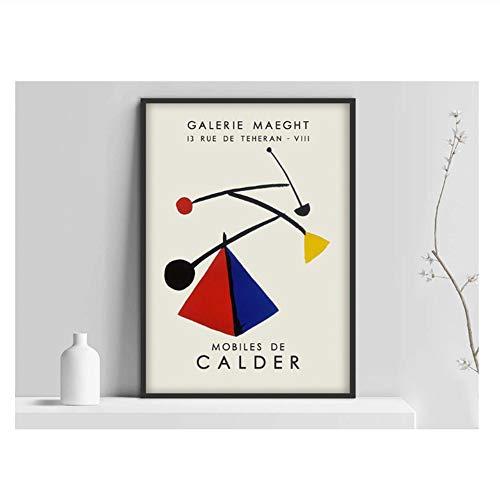 feitao Alexander Calder Kunstausstellungsplakat, Mobiles de Calder Kunstdruck, Gallerie maeght, Abstract AR, Ausstellungswandkunst -20x28 Zoll No Frame