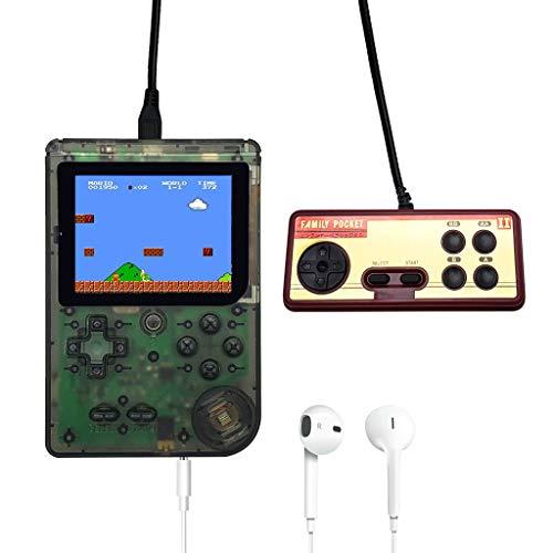 FBGood Handheld Spielkonsole,3,0-Zoll-Retro-FC-TV-Spiel 400 Spiele Portable Game Players, Geburtstags-Geschenke für Freunde, Kindertag Geschenk,Geschenkverpackung (Grün)