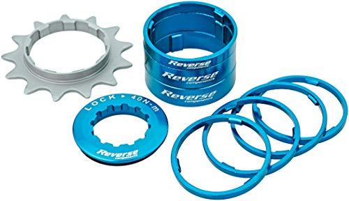 Kit Single Speed avec Pignon 13 Dents REVERSE COMPONENTS Couleur Bleu Clair