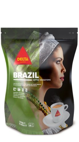 Delta Ground Roasted Coffee from BRAZIL for Espresso Machine or Bag 250g