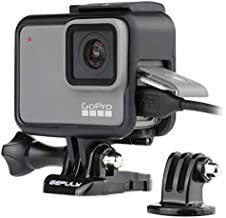 GEPULY Frame Mount Housing Case with Quick Release Buckle and Thumb Screw for GoPro Hero 5 6 Hero 2018 Hero 7 Black Silver White Cameras