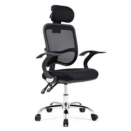 N/Z Équipement Quotidien Chaise à la Maison Qui Peut être détendue Chaise d'ordinateur à la Maison Patron Chaise pivotante Chaise de Bureau Chaise Noire 60 cm * 60 cm * 113 cm