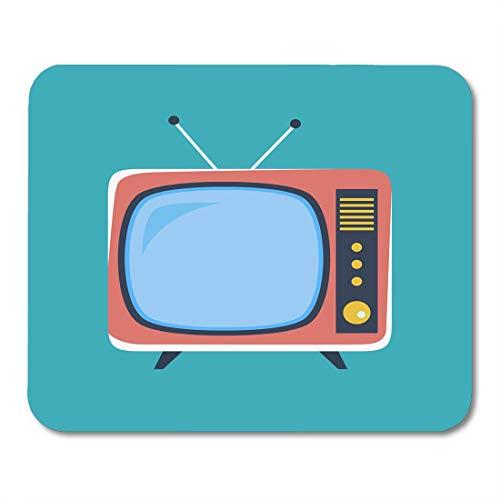 Muismat leeg TV schattig retro TV oud in stijl comic antenne vintage muismat muismat