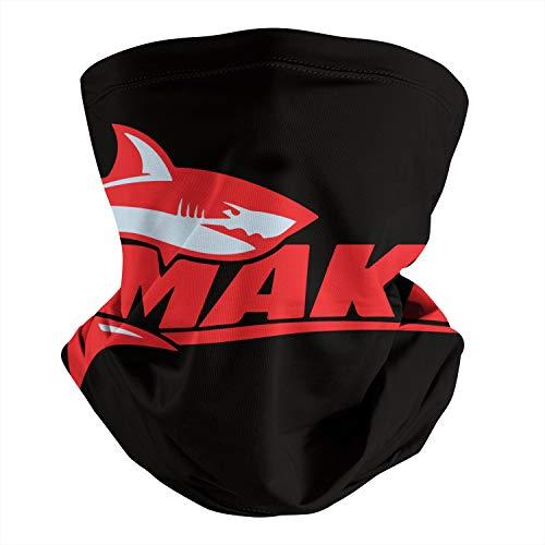 Pupkitten Seamless Face Mask Headband Mako-Logo-red- Multifunctional Scarf Neck Gaiter Balaclava for Dust Outdoor Sports Festivals