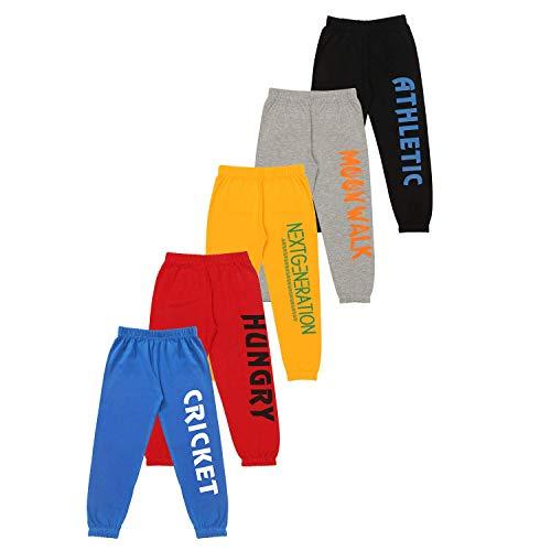 KYDA KIDS Boys' Loose Fit Trackpants (Pack of 5) (KYDA KIDS_5-6Y_Assorted_5-6 Years)