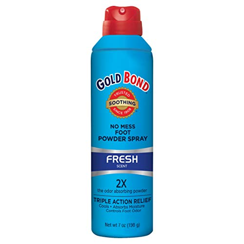 Gold Bond Foot Powder Spray Fresh Scent 7 Ounce Can (207ml) (2 Pack)