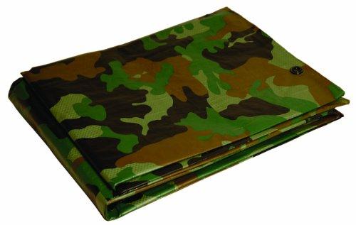 10x12 Multi-Purpose Camouflage Medium Duty DRY TOP Poly Tarp (10'x12')