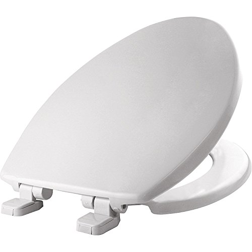 MAYFAIR 1880SLOW 000 Caswell Toilet Seat will Slowly Close and Never Loosen, ELONGATED, Long Lasting Plastic, White