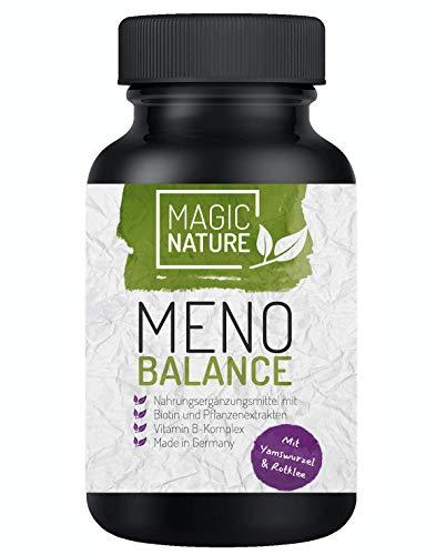 MAGIC NATURE - Meno Balance | Für die Wechseljahre | 120 KAPSELN | Hormonfrei - Vegan - Natürlich | Yamswurzel, Rotklee, Granatapfel u.v.m.