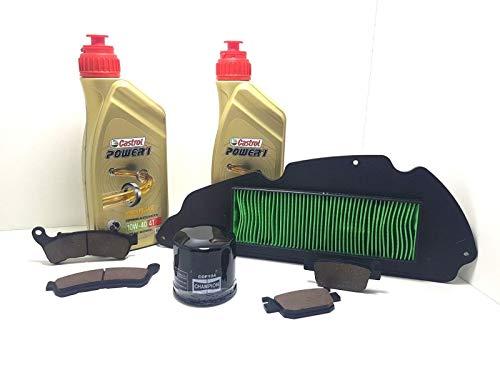 Kit révision SH 300 huile Castrol Power 1 filtre à air huile plaquettes 2007 2008 2009 2010 2011 2012 2013 2014
