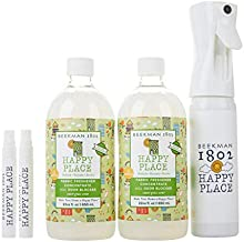 product image for Beekman 1802 Happy Place Sweet Grass Fabric Freshener Concentrate Kit with On The Go Sprayers