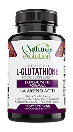 Best Glutathione Supplement - Natural Skin Whitening Anti-Aging Benefits Reduced L-Glutathione Pills for Men & Women Pure Antioxidant with Vitamin C, Liver Health GSH Detox