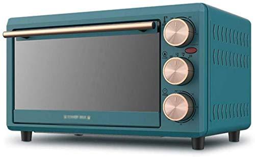 16L Mini horno Horno de tostadora eléctrica Doble vidrio Puerta de recirculación...