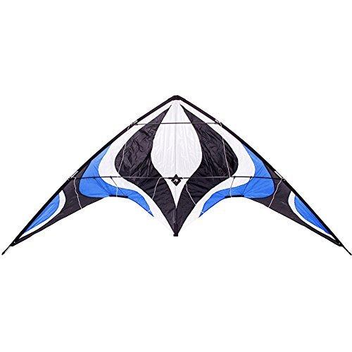 Babyeden Blue Sport Prism Delta Dual-Line Stunt Kite, 84-Inch