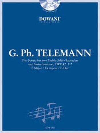 Sonate F-Dur TWV42:f7 (+CD) : für 2 Altblockflöten und