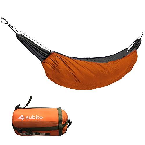 Nemo Hamac portable d'extérieur pour camping avec isolation thermique Orange