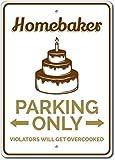Cartel para tartas, regalo para el hogar, cartel de panadería, decoración de panadería, regalo de pastelería, cartel de aparcamiento, decoración de tartas, regalo para amantes de los pasteles, señal de metal de calidad de aluminio de 20 x 30 cm