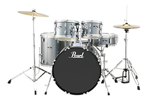 Pearl Roadshow 5-Piece Drum Set, Charcoal Metallic (RS525SC/C706)