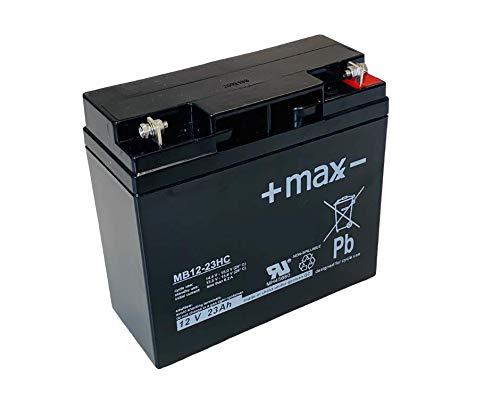 Bleiakku + maxx - 12V 23Ah MB12-23HC AGM wiederaufladbar zyklenfest 17Ah 18Ah 19Ah 20Ah 22Ah