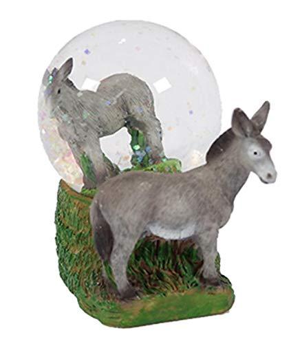 PIA International Glitzerkugel Esel, Schneekugel Tier Tiere Schneekugeln Langohr