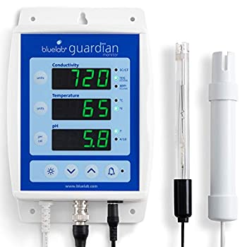 Bluelab MONGUA Guardian Monitor for pH Temperature and Conductivity Measures Easy Calibration and Wall Mounted