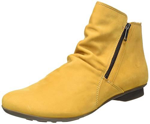 Think! Damen Keshuel_3-000008 Nachhaltige, Leder Gefütterte Stiefelette, Gelb(6000 Senf), 36 EU