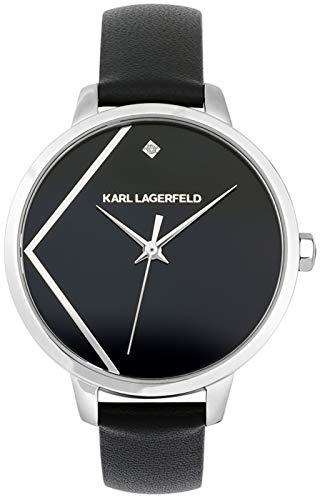 Karl lagerfeld Jewelry Klassic Damen Uhr analog Quarzwerk mit Leder Armband 5513099