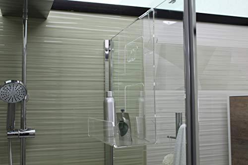 Agplex Estantería de ducha para colgar sobre la mampara – Instalación sin taladro - adaptable a cualquier espesor