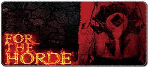 Smaige XXL Extended Gaming Mouse Pad / Mat - Large, Wide Mousepad, Stitched Edges | 35.4'x15.7'x0.12' Dimensions ( Horde )