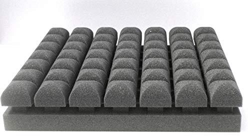 Akustik Absorber - PUR Top Absorber - Diffusor - Schaumstoffplatte 50 x 50 x 8 cm