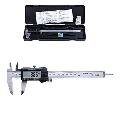 Pie de Rey Digital, Calibre Digital 100/150/200/300mm Pulgadas de Acero Inoxidable,calibrador Micrómetro...