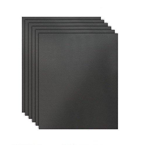 HTINAC 6 PCS Tapis de Cuisson 50 x 40 cm Feuilles de Cuisson en Téflon Réutilisable et Facile à Nettoyer - Barbecue Four Cadeau Idéal pour Amateur de Barbecue à Gaz Électriques Charbon