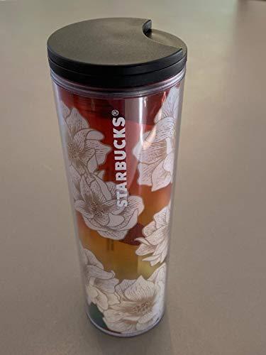 Starbucks Floral Design Double Walled Acrylic Tumbler, 16 Fl Oz