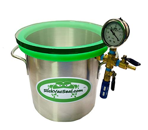 ' Built in The USA' -3 Gallon SlickVacSeal Aluminum Vacuum Chamber Used for Stabilizing Wood, Degassing Resins, Silicone and Epoxies.