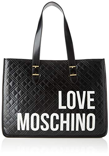 Love Moschino Damen Jc4209pp0a Tragetasche (Tote bag), Schwarz (Black Quilted), 16x31x42 Centimeters (W x H x L)