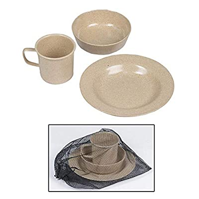 Mil-Tec Khaki Mess Kit Set (3-Kits)