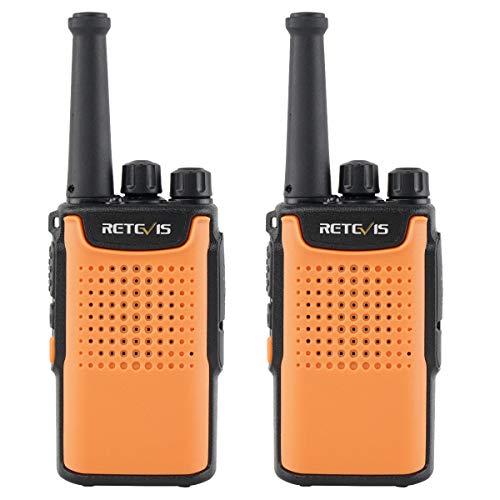 Retevis RT667 Walkie Talkie PMR446 Licentievrij 3000mAh Li-ion Batterij 16 Kanalen CTCSS/DCS VOX Squelch LED Zaklamp oplaadbare Walkietalkie (1 Paar, Oranje)