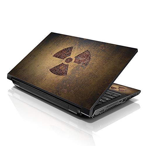 Correas 15 39,62 cm ordenador portátil Skin para diseño compatible con 33,78 cm 35,56 cm 39,62 cm 40,64 cm HP Dell Lenovo Apple Asus Acer Compaq (incluye 2 reposamuñecas de incluido) diseño con texto en inglés Nuclear