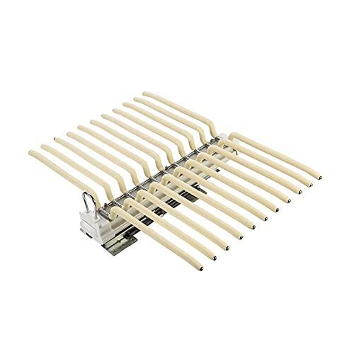 Utdragsbyxhängare med hängare Dämpningsskena Aluminiumlegering Toppmonteringslängd 46cm Last 30kg för djup 48cm Skåp som rymmer 22 byxor 1pc (Color : Beige, Size : Damping Rail)